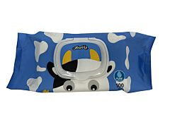 Kiddo Character Wipes With Cap (Cow)