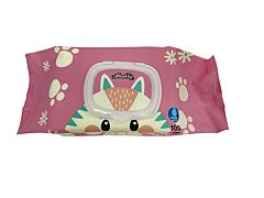 Kiddo Character Wipes With Cap (Cat)