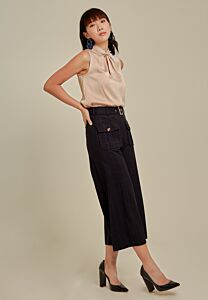 Checked Culottes Pant