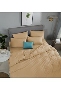 RELISH LOTARIO WHEAT FITTED SHEET SET 620 THREAD COUNT