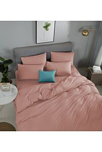 RELISH LOTARIO PEACH PINK FITTED SHEET SET 620 THREAD COUNT