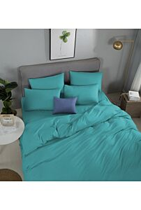 RELISH LOTARIO TURQUOISE FITTED SHEET SET 620 THREAD COUNT