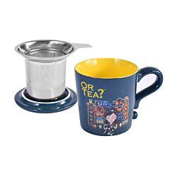 Midnight Blue Mug With Filter