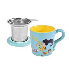 Teal Mug With Filter
