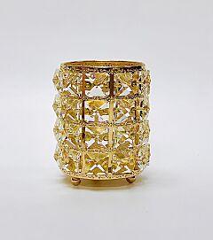 Gold Metal Bling Brush Holder