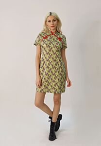 Floral Print Cheongsam Dress