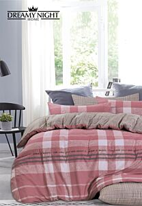 Horano Checks Comforter Set 600 Thread Count