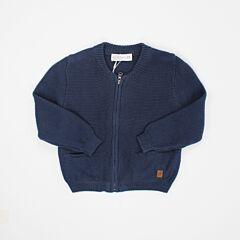 Navy Knit Jacket For Toddler