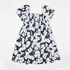 Black With White Floral Prints Dress