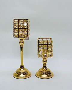 Diamon Collection Gold Metal Candle Stand